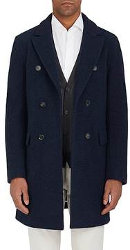 Loro Piana Men's Wool-Cashmere Sweater-Style Peacoat