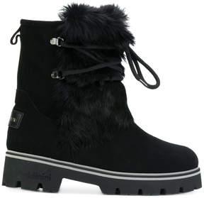 Baldinini lace up fur boots
