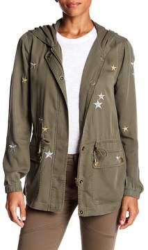 Bagatelle Metallic Star Hood Anorak