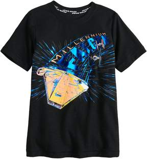 Star Wars A Collection For Kohls Boys 4-7x a Collection for Kohl's Millennium Falcon Foiled Graphic Tee