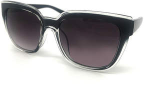 Fantas-Eyes Fantas Eyes Layered Look Full Frame Square UV Protection Sunglasses-Womens