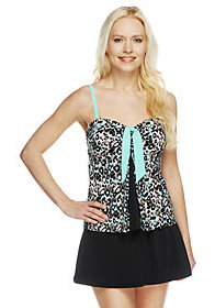 Fit 4 U As Is Tummy Skinz Tie Pleat Top with Skirtini