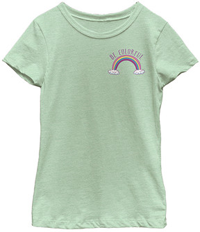 Fifth Sun Mint 'Be Colorful' Tee - Girls
