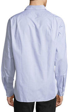 Psycho Bunny Grid-Print Cotton Sport Shirt