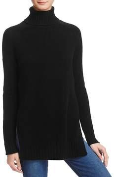 Aqua Cashmere Side-Slit Turtleneck Sweater - 100% Exclusive