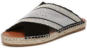 Diane von Furstenberg Flat Crisscross Espadrille Slide Sandal