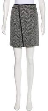 Strenesse Virgin Wool Patterned Skirt