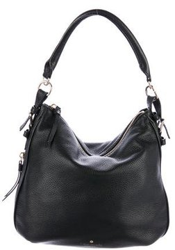 Kate Spade Grained Leather Hobo - BLACK - STYLE