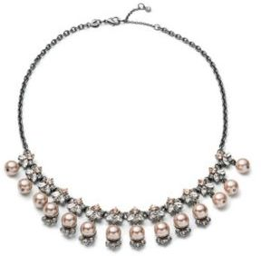 Carolee Queen of Gems Pearl Cluster Stone Necklace