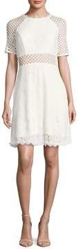 ABS by Allen Schwartz Women's Lace And Crochet Midi Dress
