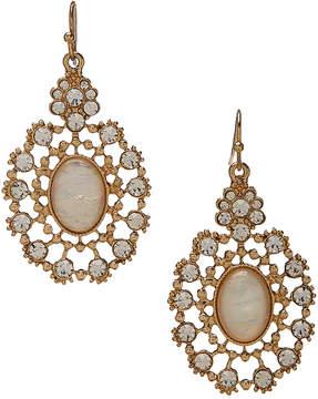 Carole Stone & Burnished Goldtone Filigree Drop Earrings