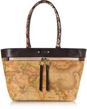 Alviero Martini Vanity Dark Brown Leather Tote Bag
