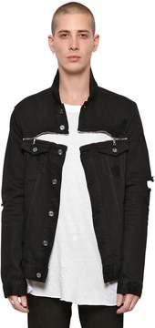 RtA Destroyed Denim Jacket With Zips