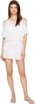 Becca by Rebecca Virtue Siren Off the Shoulder Dress Cover-Up Women's Swimwear