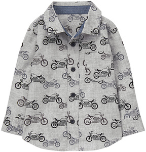 Gymboree Gray Moto Button-Up - Infant, Toddler & Boys