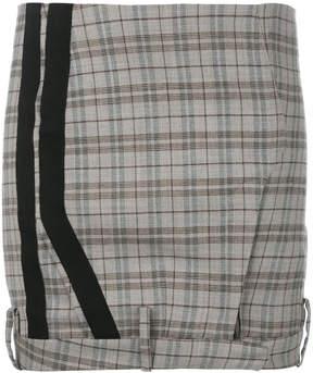 A.F.Vandevorst checked mini skirt