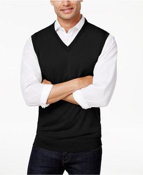 Club Room Men's Merino Performance Wool Vest, Created for Macy's