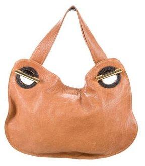 Devi Kroell Python-Trimmed Leather Bag