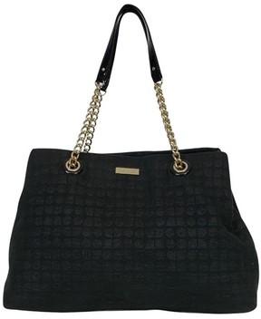 Kate Spade Black Canvas Shoulder Bag - BLACK - STYLE
