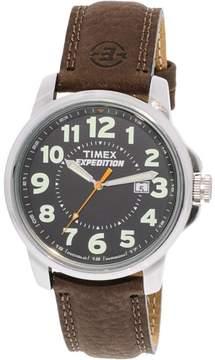 Timex Men's Expedition T44921 Brown Leather Quartz Sport Watch