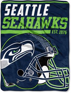 Northwest Company Seattle Seahawks Micro Raschel 46x60 40 Yard Dash Blanket