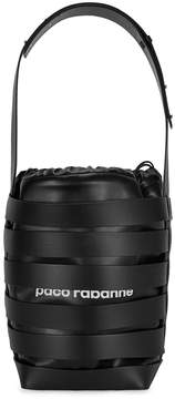 Paco Rabanne Cage Medium Leather Hobo Bag