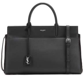 Saint Laurent Medium Rive Gauche leather and suede shoulder bag