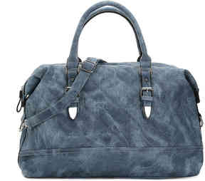 Women's Zergolon Weekender Bag -Black Faux Leather
