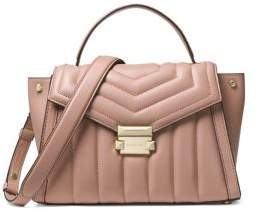 MICHAEL Michael Kors Whitney Quilted Leather Satchel