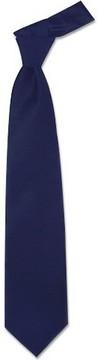 Forzieri Solid Dark Blue Extra-Long Tie