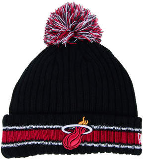 New Era Miami Heat Basic Chunky Pom Knit Hat