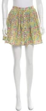 Steven Alan Mini Floral Print Skirt