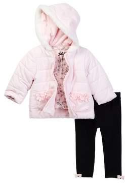 Little Me Pink Puff 3-Piece Jacket Set (Baby Girls)