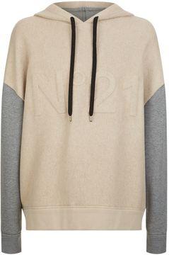 N°21 N 21 Colour Block Hoodie