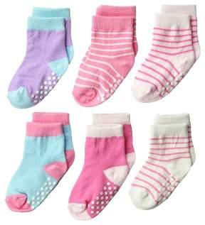 Jefferies Socks Non-Skid Crew 6-Pack Girls Shoes
