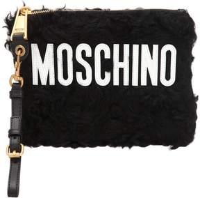 Moschino Logo Mohair Pouch