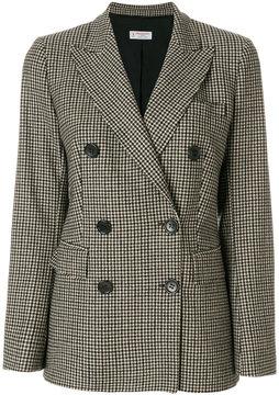 Alberto Biani Pied-de-poule double breasted jacket