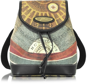 Gattinoni Planetarium Coated Canvas and Leather Small Backpack