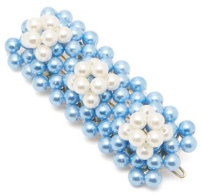 Shrimps – Antonia Bead Embellished Hair Clip – Womens – Blue