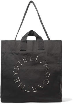 Stella McCartney - Printed Cotton-canvas Tote - Black