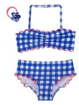 Hula Star Little Girl's Two-Piece Summer Skies Gingham Bikini Set