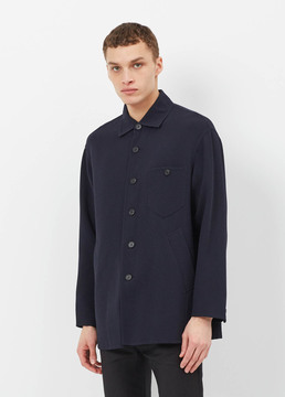 Cmmn Swdn Navy Keene Double-faced Crepe Jacket