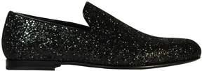 Jimmy Choo Sloane Black Glitter Slippers