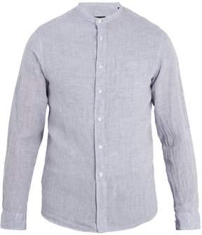 Giorgio Armani Mandarin-collar linen shirt