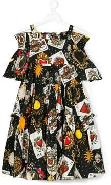 Dolce & Gabbana tarot card off-shoulders dress