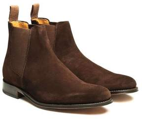 Grenson Shoes Declan Suede Chelsea Boot in Chocolate