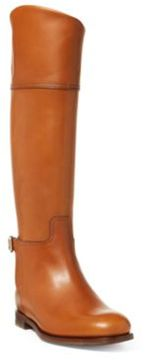 Ralph Lauren Sallen Calfskin Riding Boot Tan 6.5