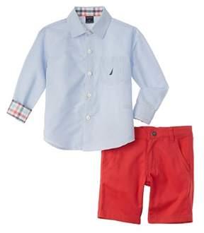 Nautica Boys' 2pc Woven Short Set.