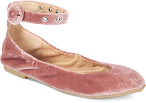 Material Girl Francy Ankle-Strap Flats, Created for Macy's Women's Shoes