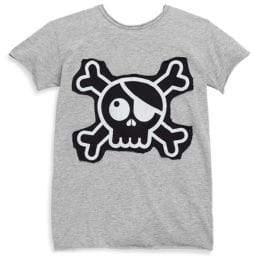 Nununu Little Boy's& Boy's Skull& Crossbones Patch T-Shirt
